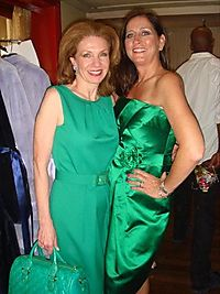 Service club fashion show at the peninsula-model members sheryl dyer and jean antoniou 1