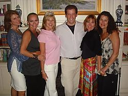 Christine ott, me, sandy deromedi, adam sklute, melinda jakovich and chris long