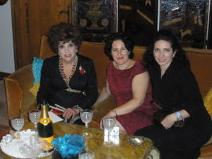 Gina Lollobrigida, Debra Selch and Christina Gilberti