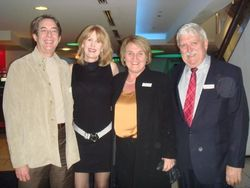 Dr. Michael O'Meara, Margaret O'Connor, Australia's Consul-General Elizabeth Schick and her husband Barry