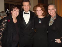 Maureen Smith, President and CEO of Van Cleef, Emmanuel Perrin, Sheryl Dyer and me