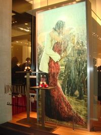 "Ferragamo's Michigan Avenue window display for ""Australia"""