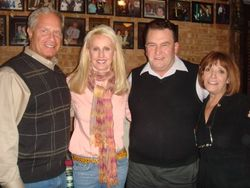 Elliot and jannie pearlman with pat benkowski and salerno's owner, victoria lia