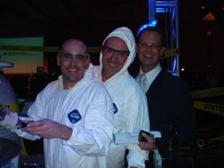 Pastry Chef Fabrice Bouet, Executive Chef Stephen Henry and David Brandt