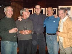 Honoree Mitch Canoff (center) with high school friends
