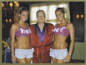 Hef and the twins