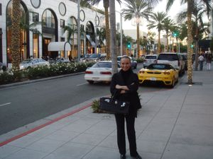 Me on Rodeo Drive on New Year's