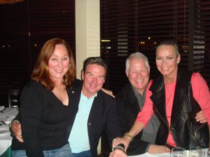 Me and Chuck with Patti and Jimmy Connors at Toscano's