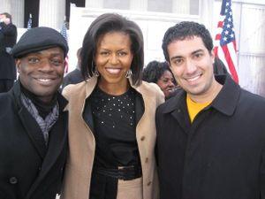 Joseph Hobbs, Michelle Obama and David Aminzadeh