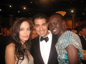 FOR BLOG david with angelina jolie and alek wek
