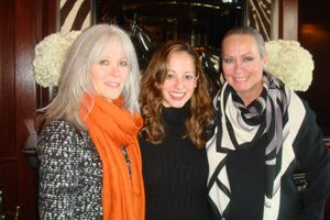 Event cochair katherine chez with ct executive director linda novick o'keefe and me