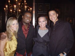 Ashley Lobo, Marcus Riley, me and Reggie Brown