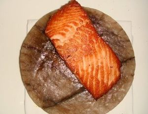 Loftin's salmon on Himalayan rock salt