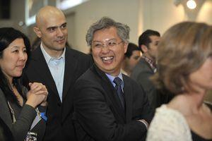 Blog 17 - John Chiu bidding during live auction