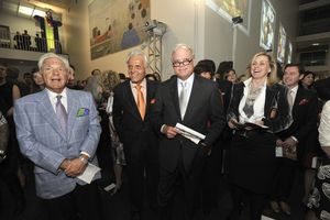 Blog 20 - Judd Malkin, Marvin Herman, Terry Newman and Mary O'Connor during the live auction