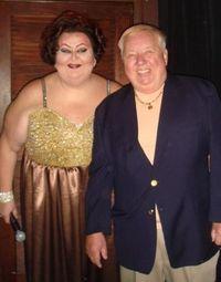 Blog - Mistress of ceremonies, Ginger Grant and Baton owner Jim Flint