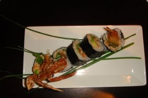 Gallery - Scorpion roll--softshell crab, tempura shrimp, avocado, asparagus and spicy mayo