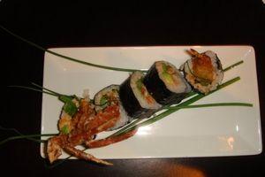 Gallery - Scorpion roll--softshell crab, tempura shrimp, avocado, asparagus and spicy mayo