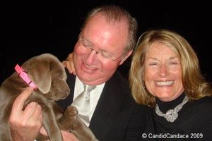 Blog 5 - United Airlines President Glen Tilton and his wife Jackie with their new puppy