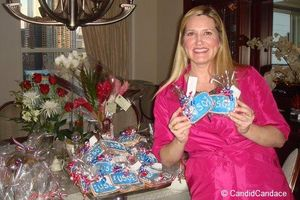 Blog 2 - Heather Farley holding USO cookies