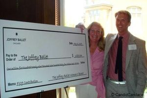 Blog 4 - Kathleen Klaeser presenting check to artistic director Ashley Wheater