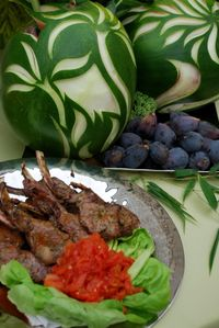 Grilled lamb chops prepared by Chef Rachid Elyamani of Allen Brothers
