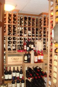 Blog 13 - Bill's wine cellar including vintages from his own vineyard
