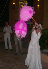 Blog 1 - Melinda whacking her piñata