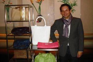 Blog 5 - Santiago with his mother Nancy Gonzalez' handbags