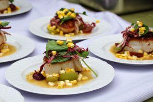 Seared sea scallops prepared by Chef Dale Levitski