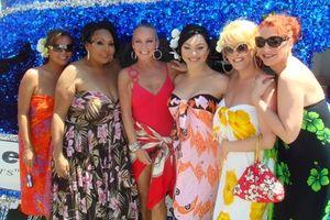 Blog 3 - Maya Douglas, Miss Continental Plus CoCo Van Cartier, me, Sasha Colby, Mimi Marks and Monica Monroe
