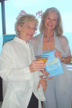 Blog 1 - Author Barbara Bonfigli and hostess Christie Hefner