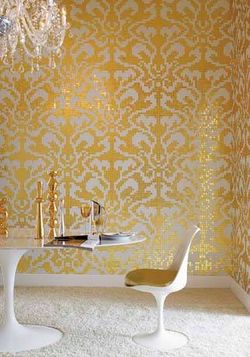 "Blog 5 - 24 Karat gold ""Damasco Oro"" in Rossella's office at Bisazza"