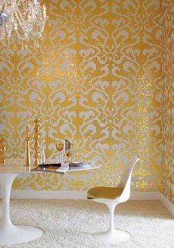 "Blog 5 - 24 Karat gold ""Damasco Oro"" in Rossella's office at Bisazza"