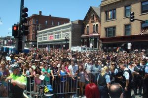 Blog 1 - Crowds along parade route