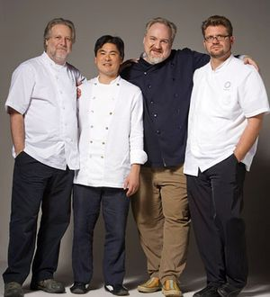 Jonathan Waxman, Roy Yamaguchi, Art Smith and Michael Cimarusti