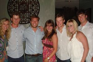 Blog 2 - White Sox players Chris Getz and Gordon Beckham and friends with Michelle, Sandy Caspariello and Natalie Sager