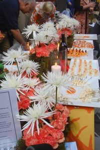 Blog 5 - the Orange Table (flowers by Jonathan Ryan)--
