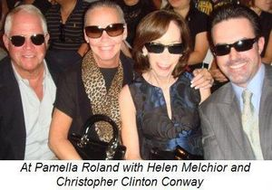 Blog 16 - At Pamella Roland with Helen Melchior and Christopher Conway