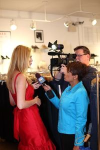 Gallery - Alex being interviewed by NBC's Lee Ann Trotter