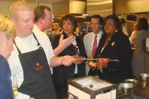 Blog 4 - Wagyu beef demo for Linda Johnson Rice, Neal Zucker and Chaz Ebert