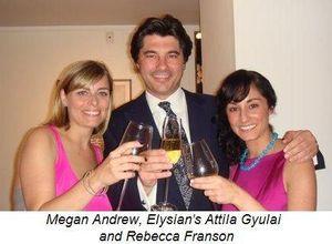 Blog 5 - Megan Andrew, Elysian's Attila Gyulai and Rebecca Franson