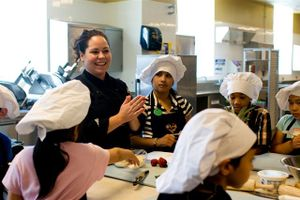 Blog 3 - Chef Stephanie Izard with CT students