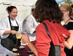 Blog 6 - Top Chef Stephanie Izard serving the crowd