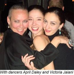 Blog 6 - With dancers April Daley and Victoria Jaiani
