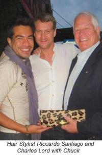 Blog 32 - Hair stylists Riccardo Santiago and Charles Lord with Chuck