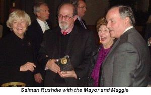 Blog 2 - Salman Rushdie with the Mayor and Maggie