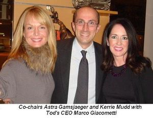 Blog 1 - Co-chairs Astra Gamsjaeger and Kerrie Mudd with Tod's CEO Marco Giacometti