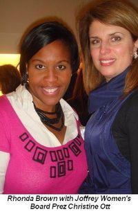 Blog 4 - Rhonda Brown and Joffrey Women's Board Prez Christine Ott