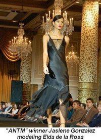 Blog 2 - America's Next Top Model winner Jaslene Gonzalez modeling Elda de la Rosa